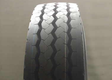 Comfortable Riding Truck And Bus Tyres , Steering Axle Tires 12R22.5 Standard Rim 9.00